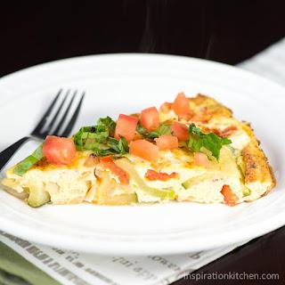 Zucchini, Onion & Tomato Fritatta