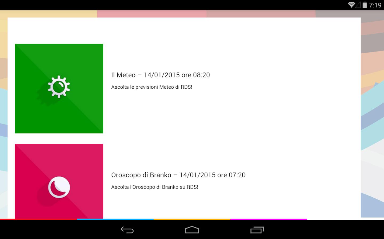 RDS 100% Grandi Successi - screenshot