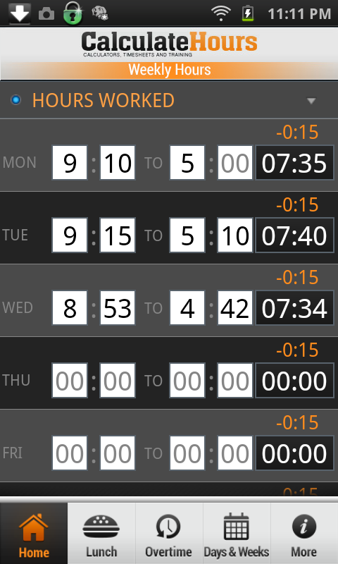 Time Card CalculatorTimeClock Android Apps on Google Play – Hours Worked Calculator