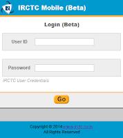 Screenshot of IRCTC Insta Booking