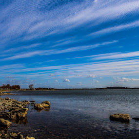 Roxo Lake by Alexandre Mestre - Landscapes Waterscapes ( water, beja, sunny, cloud, lake, portugal )