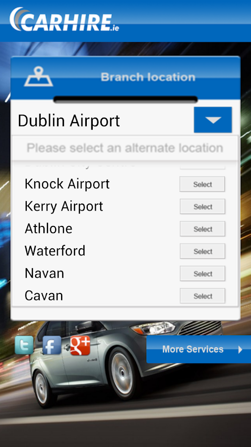 CARHIRE.ie | Car Hire Ireland- screenshot