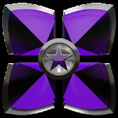 Next Launcher theme Purple Sta