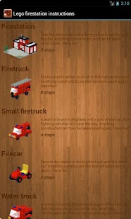 Lego fire station - examples