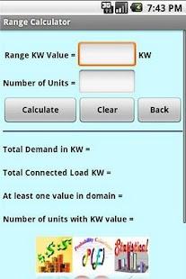 Range Calculator Screenshot 3