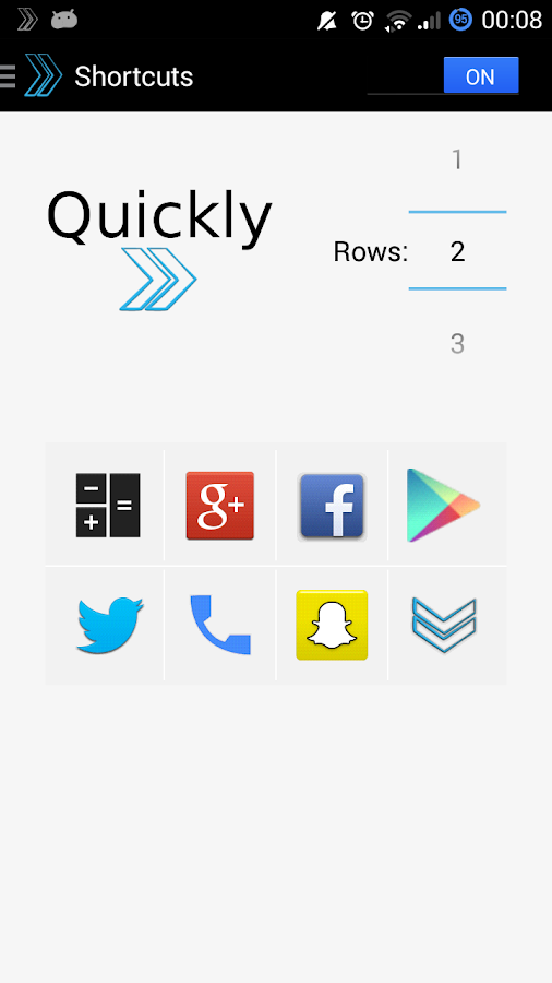 Quickly Notification Shortcuts- screenshot