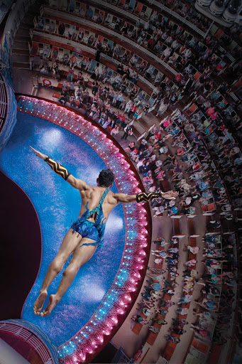 Royal-Caribbean-Aqua-Theater-high-dive - Catch high dive acts in the Aqua Theater aboard Allure of the Seas.