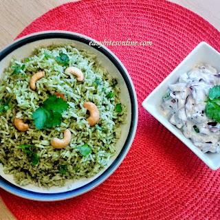 Mint Rice (Pudina Rice) Recipe