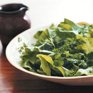 Tender Greens with Champagne Vinaigrette.