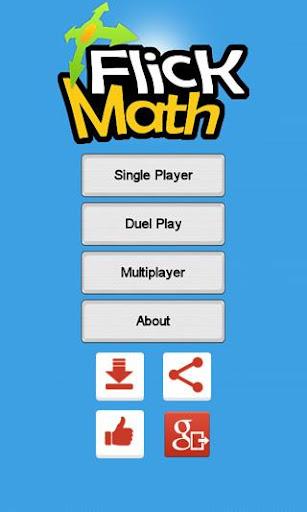 Flick Math - A Math Game