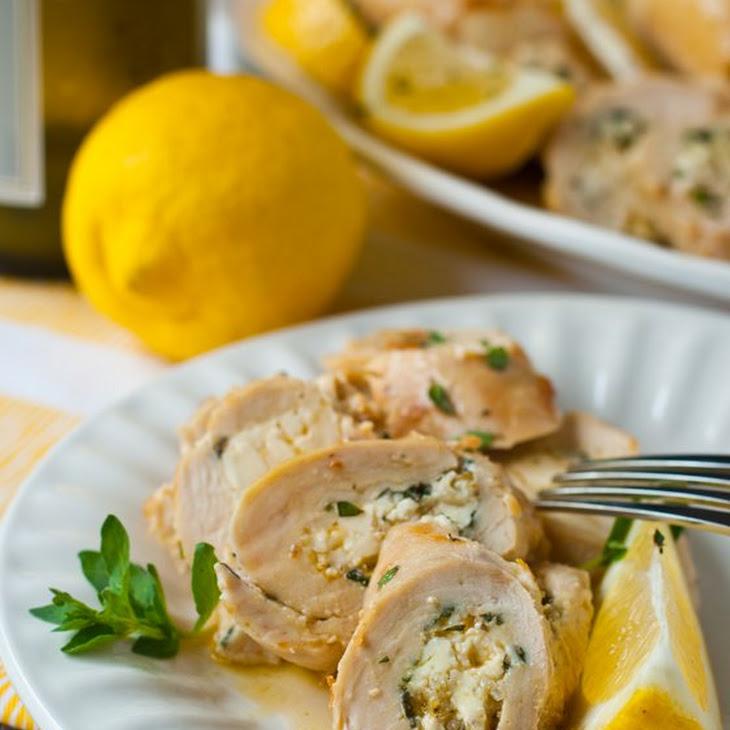 Greek Chicken Roulade Recipe