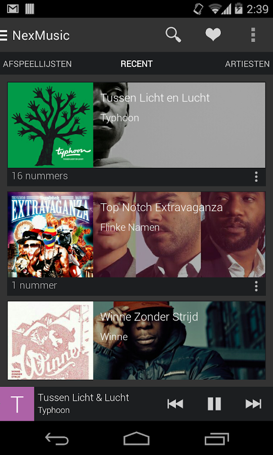 NexMusic + - screenshot