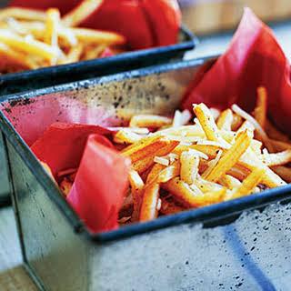 Parmesan, Garlic, and Cajun Fries.