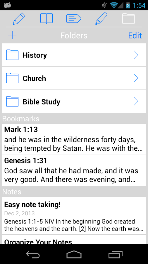 NIV Quest Study Bible- screenshot