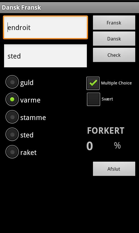 French Danish Dictionary- screenshot