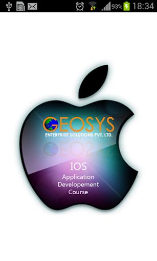Geosys IOS Training
