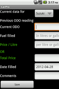 Vehicle Mileage Tracker screenshot 0