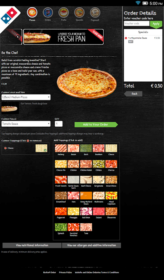 Domino's Pizza Nederland- screenshot