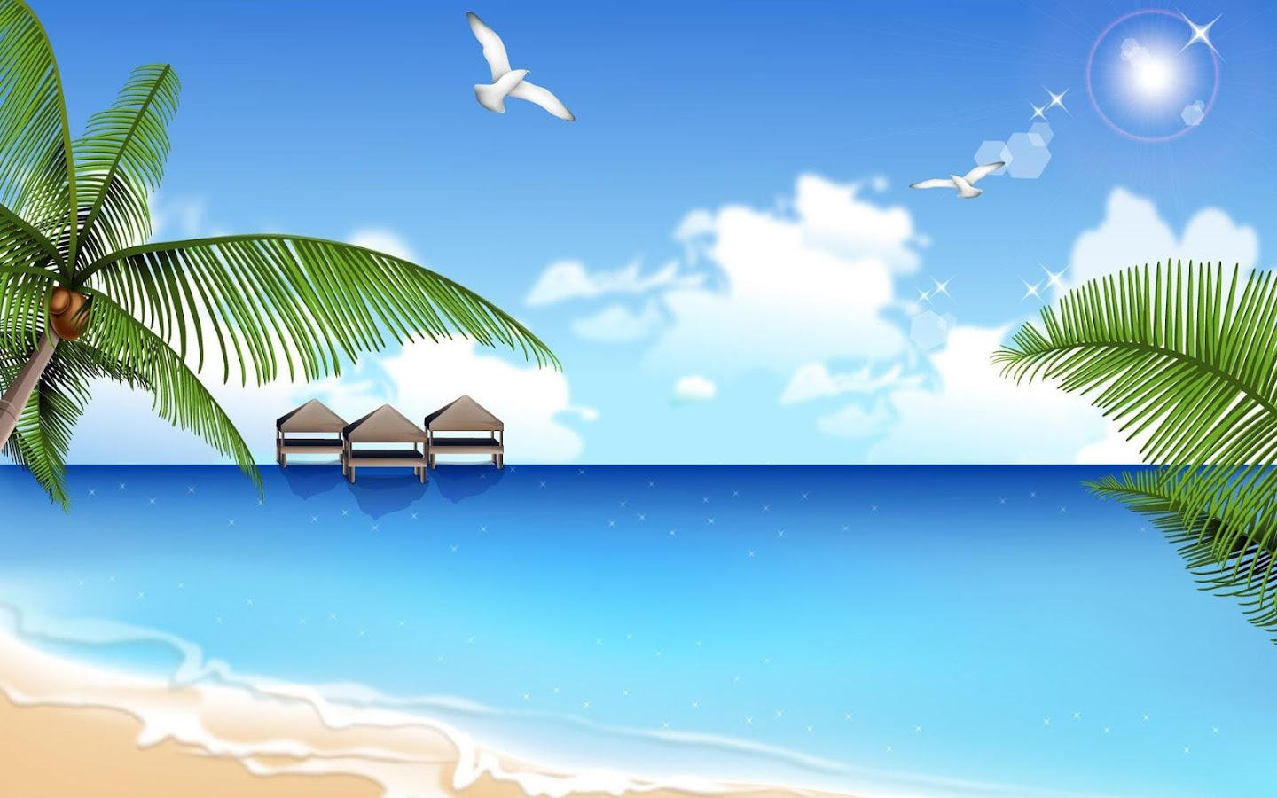 Free Beach Wallpaper HD - screenshot