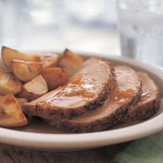Roast Pork Loin with Pan Sauce.