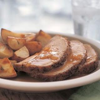Roast Pork Loin with Pan Sauce.