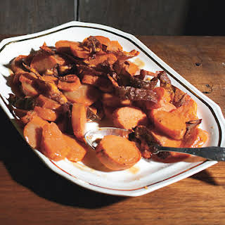 Yams with Crispy Skins and Brown-Butter Vinaigrette.