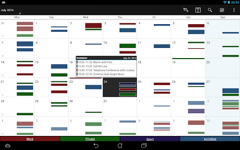 Business Calendar Screenshot 9