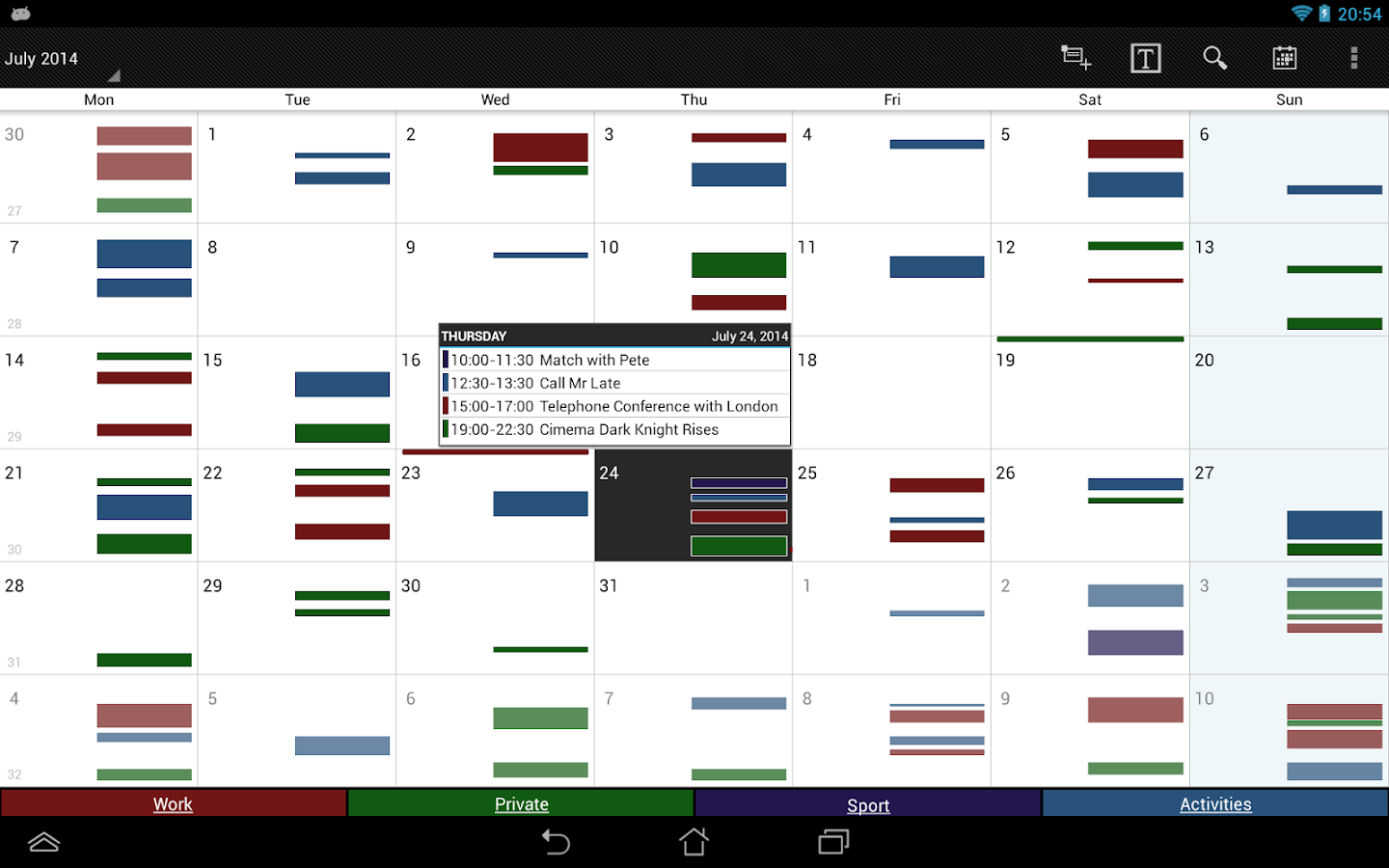Business Calendar - screenshot