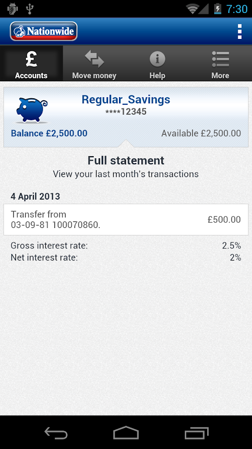 Nationwide Mobile Banking - screenshot