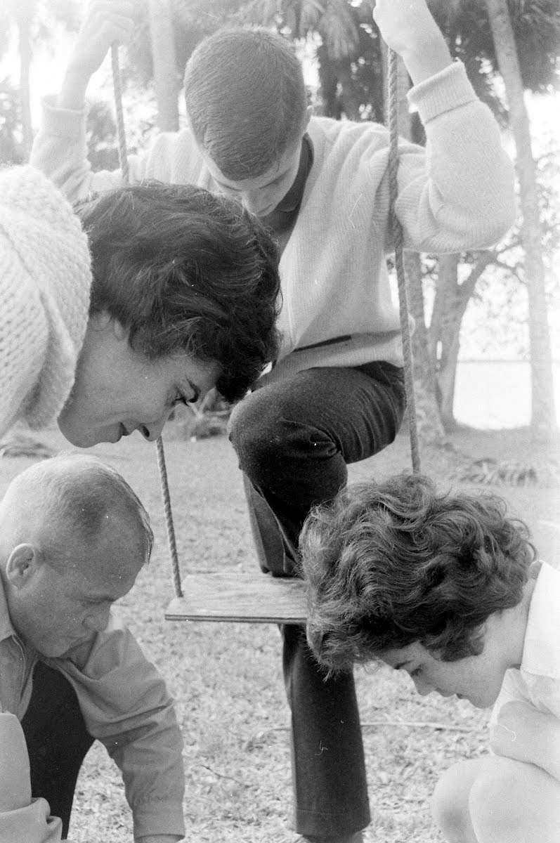 John Glenn And Family At Cape Canaveral