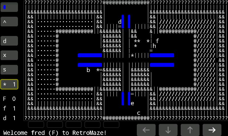 RetroMaze - screenshot