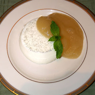 Vanilla Panna Cotta with Pear Jam