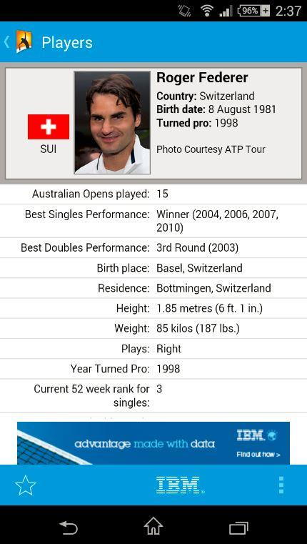 Australian Open Tennis 2015 - screenshot