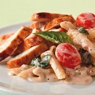 Creamy Tomato-Basil Pasta with Chicken.