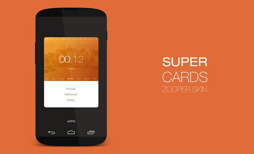 Super Cards Zooper Theme