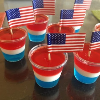 Red, White & Blue Jello Shots!