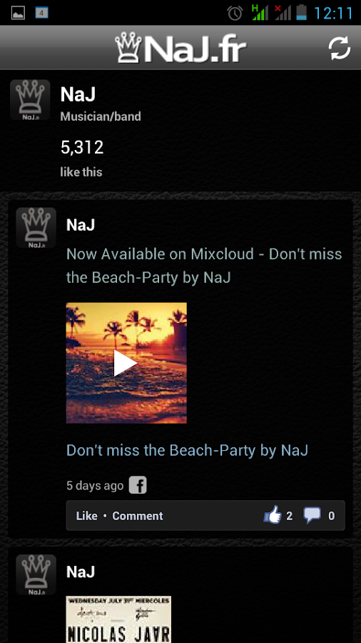 NaJ House Music  Mixes - screenshot