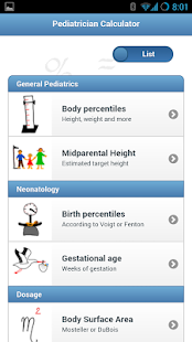 Ped(z) - Pediatric Calculator - screenshot thumbnail