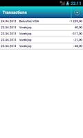 Screenshot of SMSBanking 4