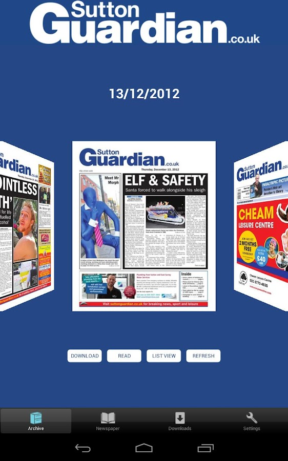 Sutton Guardian- screenshot