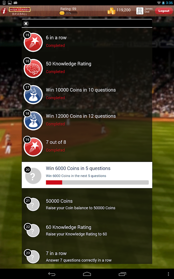 High Stakes Baseball- screenshot