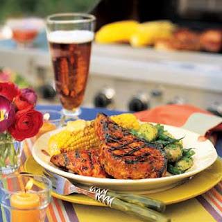 Grilled Chicken and Pork with Orange-Cumin Glaze