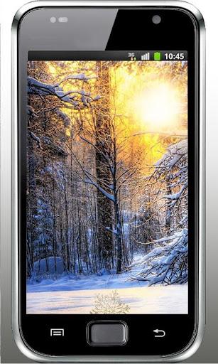 Winter Sunset Nature LWP