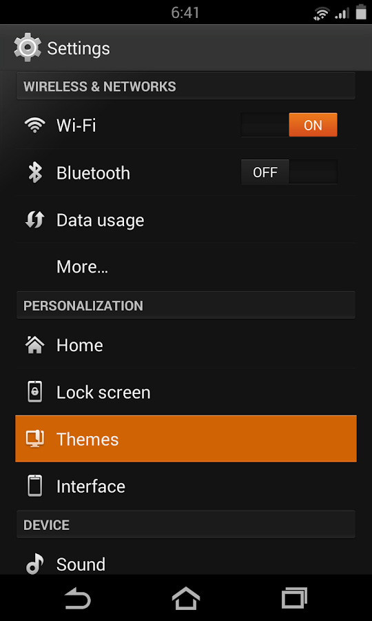 Flow Orange Theme for CM9/10.2- screenshot