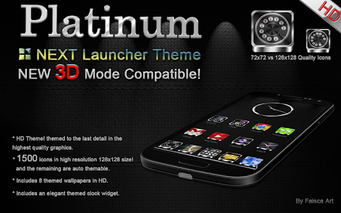 Next Launcher Theme Platinum