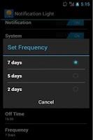 Screenshot of Notification Light Widget