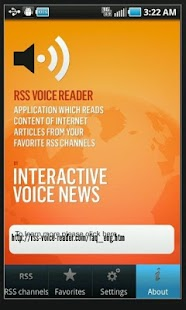 RSS Voice Reader - screenshot thumbnail
