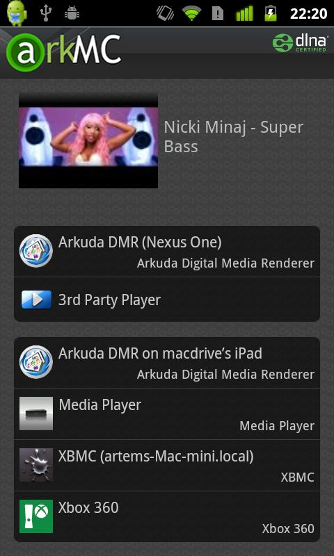 ArkMC LITE UPNP Media Center - screenshot