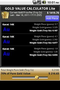 GOLD VALUE CALCULATOR Trial - screenshot thumbnail