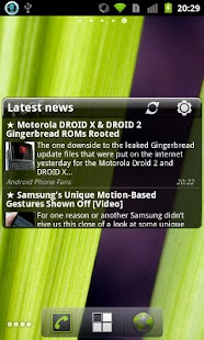 Pure news widget (scrollable) - screenshot thumbnail